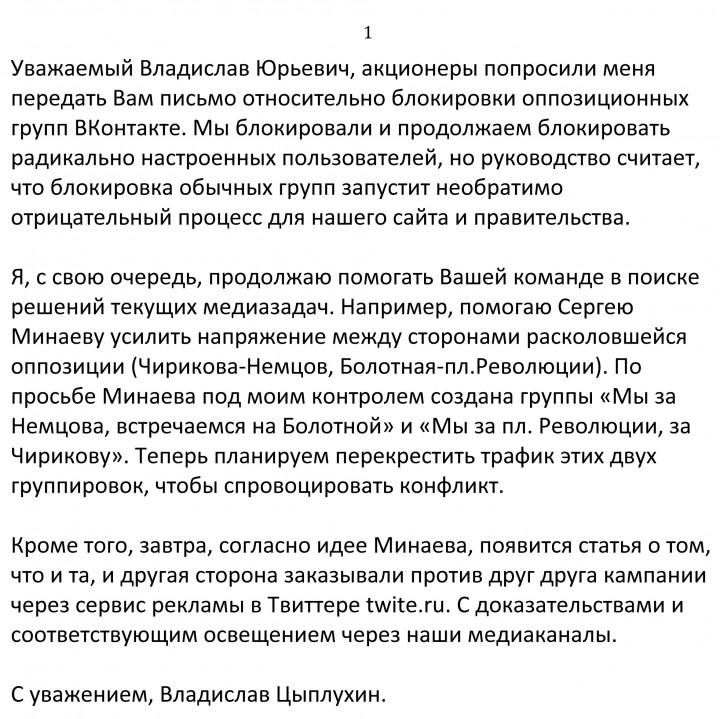 Tsipluhinin kirje Surkoville